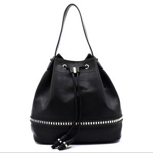 Handbags - NWT FAB Whipstitch Chain Drawstring Shoulder Bag